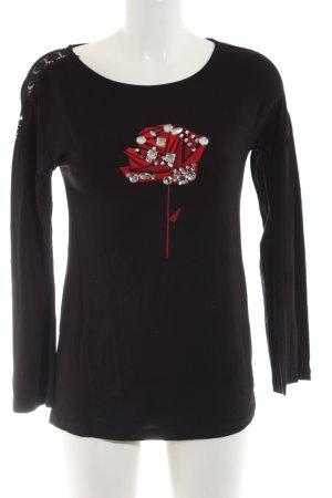 Heine Sweatshirt schwarz Blumenmuster Casual-Look