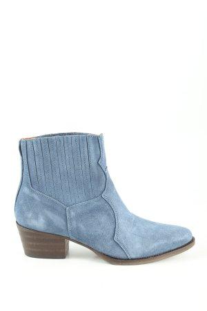 Heine Stivaletto western blu stile casual