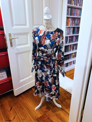 Heine wunderschönes Damen Kleid bedruckt mit verspielten Blumenmuster Gr. 36 neu