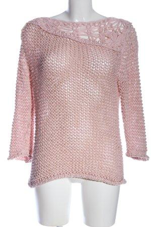 Heine Jersey trenzado rosa Patrón de tejido look casual