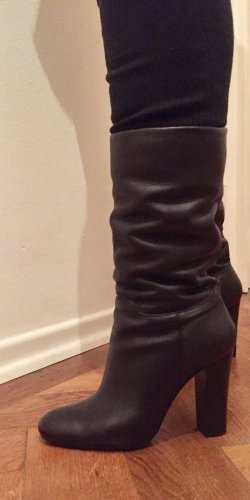 Barbara Bui Heel Boots black leather