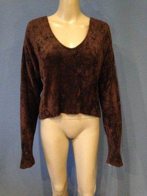 HELDMANN Knitwear Chenille Pullover Schokobraun Vintage