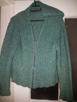 Heldmann Coarse Knitted Jacket turquoise-green