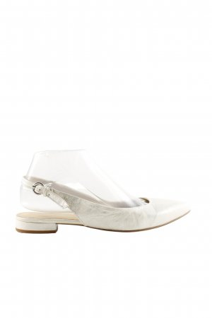 Helen Billkrantz Riemchen-Sandaletten weiß-silberfarben Business-Look