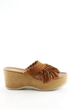 Helen Billkrantz Wedges Sandaletten braun Casual-Look