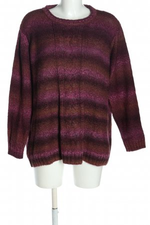 Helena Vera Coarse Knitted Sweater allover print casual look