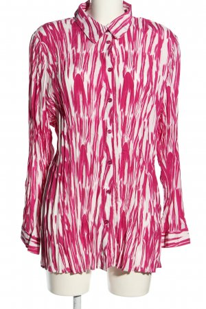 Helena Vera Hemd-Bluse weiß-pink abstraktes Muster Business-Look