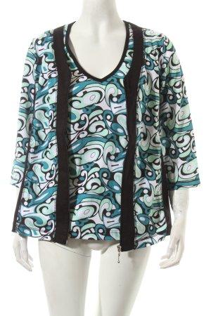 Helena Vera Jersey Twin Set abstraktes Muster extravaganter Stil