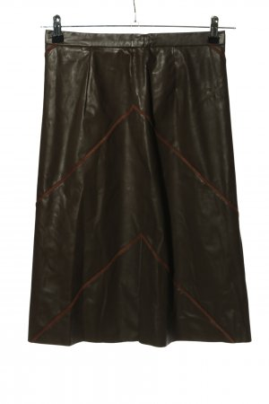 Helena Vera Faux Leather Skirt brown casual look
