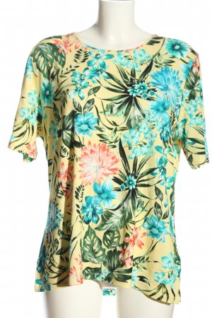 Helena Vera Short Sleeved Blouse primrose-blue allover print casual look