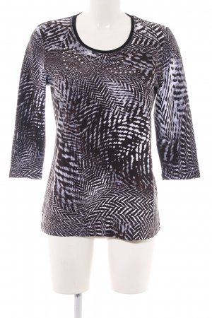 Helena Vera Longsleeve schwarz-weiß abstraktes Muster Casual-Look