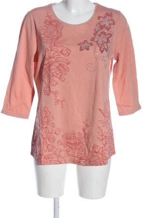 Helena Vera Longsleeve pink-red themed print casual look