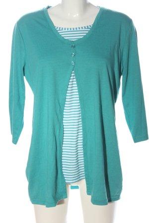 Helena Vera Longsleeve turquoise striped pattern casual look