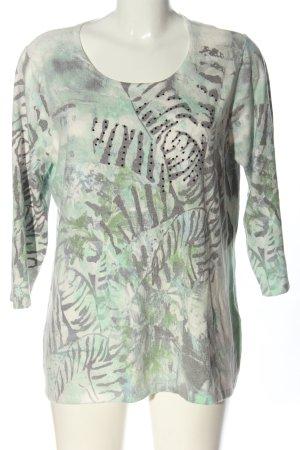 Helena Vera Print-Shirt hellgrau-grün Allover-Druck Casual-Look