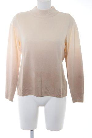 Helena Vera Rollkragenpullover creme-beige Farbverlauf schlichter Stil