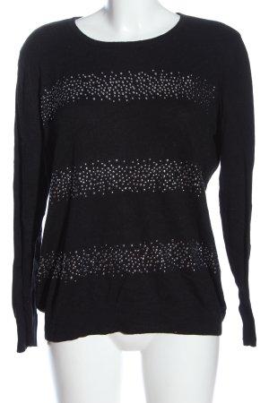 Helena Vera Crewneck Sweater black casual look