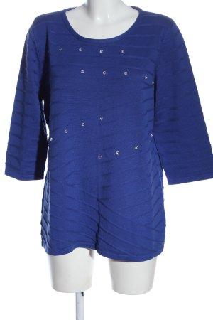 Helena Vera Rundhalspullover blau Elegant