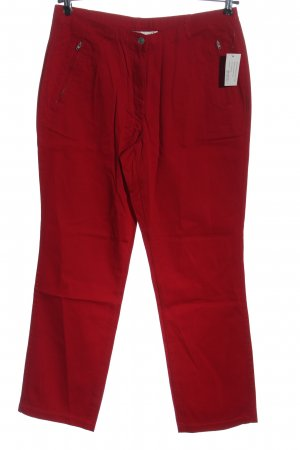 Helena Vera Jersey Pants red casual look