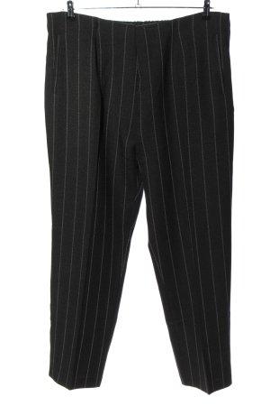 Helena Vera Jersey Pants black-light grey striped pattern business style
