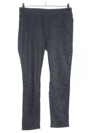 Helena Vera Jersey Pants light grey-black abstract pattern casual look