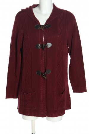 Helena Vera Cardigan red graphic pattern casual look