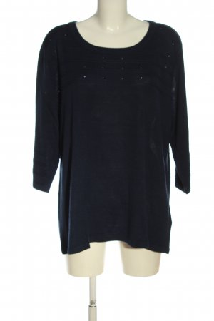 Helena Vera Knitted Sweater blue casual look