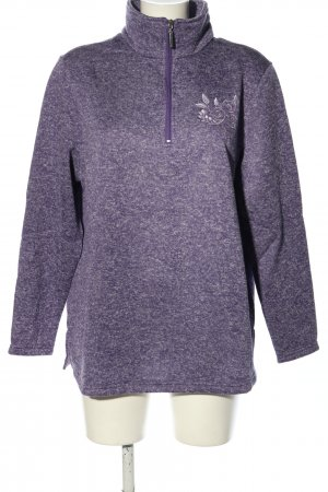 Helena Vera Knitted Sweater lilac casual look