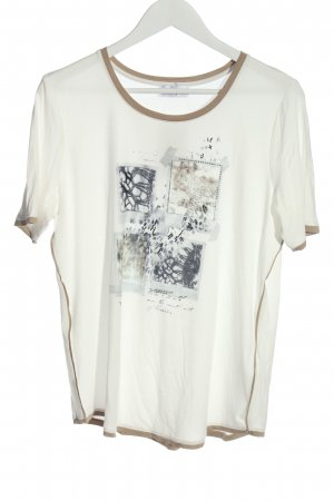 Helena Vera Knitted Jumper white abstract pattern casual look