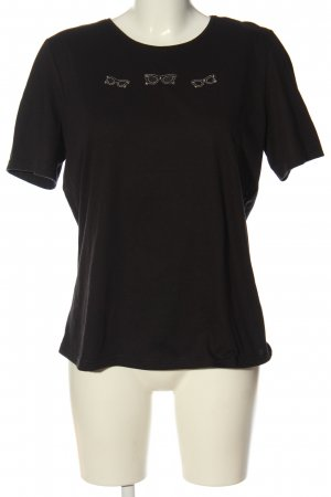 Helena Vera T-Shirt black themed print elegant