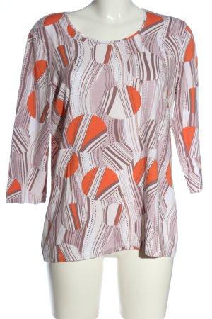 Helena Vera Boatneck Shirt abstract pattern casual look