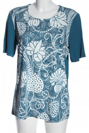 Helena Vera U-Boot-Shirt blau-weiß Motivdruck Casual-Look