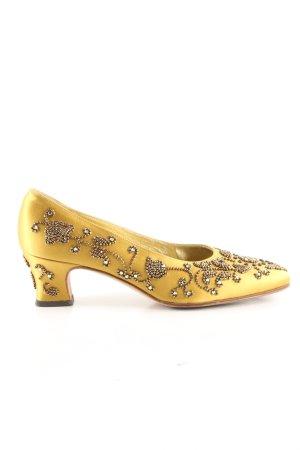 Helene Arpels Loafer giallo pallido elegante