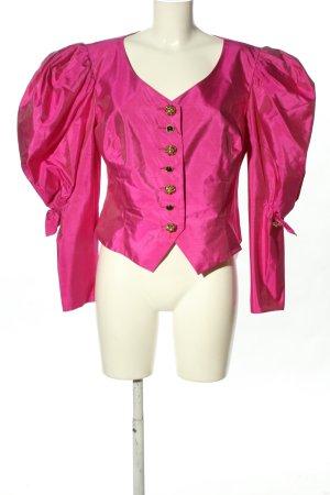 Helene Straßer Blusa in seta rosa stile stravagante