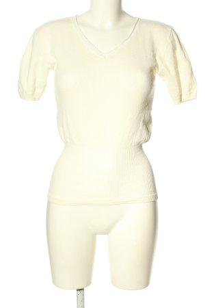 Helix Top en maille crochet blanc style décontracté