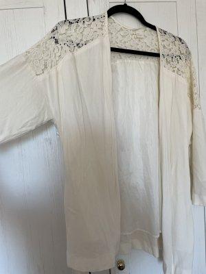 H&M Marynarka koszulowa w kolorze białej wełny