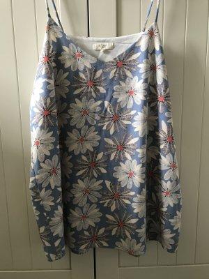 Camisole bleuet-blanc