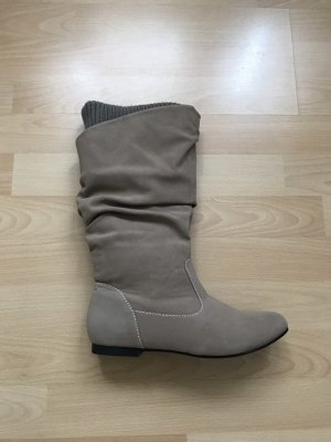 Slouch Boots beige-grey