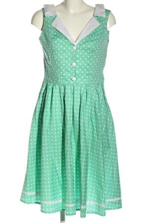 Hell Bunny Sukienka z halką zielony-biały