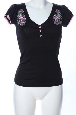 Hell Bunny T-Shirt Blumenmuster Casual-Look