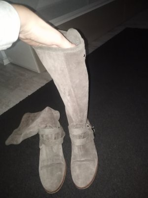Hell graue Wildleder Boots Gr. 38