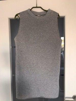 Hell graues langes Sweatshirt/Sweatkleid Größe 32