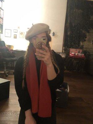 Hell rosa Baskenmütze pariser Mütze beige klassisch