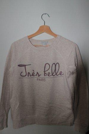 Amisu Crewneck Sweater nude cotton
