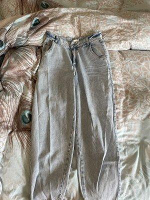 H&M Workowate jeansy błękitny