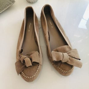 appetizer Foldable Ballet Flats beige leather