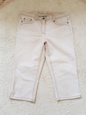 Hellbeige Taifun Jeans, 3/4 Länge