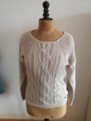 Key Largo Sweter z grubej dzianiny jasnobeżowy