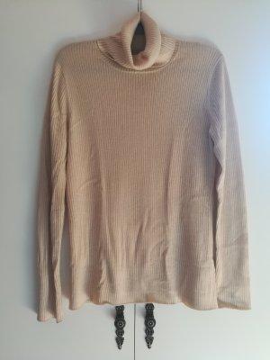 Hellbeiger Kaschmir-Pullover