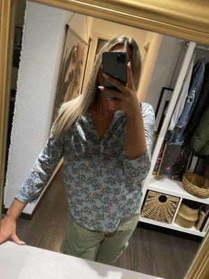 Hellblau gemusterte H&M Bluse