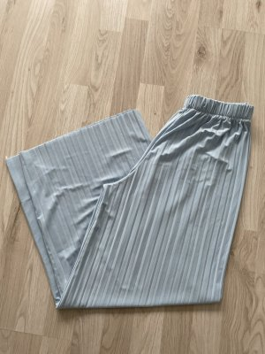 Pantalone a zampa d'elefante azzurro
